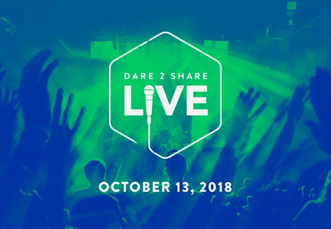 Dare 2 Share Live is a national, live, multi-site training and outreach event. Outreach events. Youth Ministry Events.