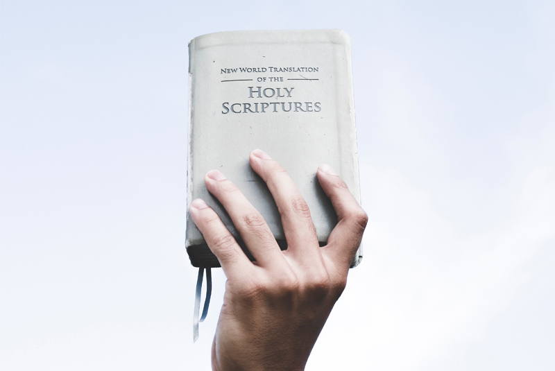 Picture of the Jehovah's Bible, the New World Translation of the Holy Scriptures
