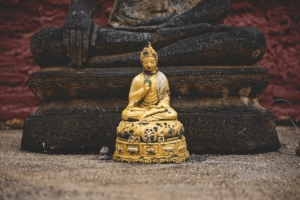 Picture of a golden Buddha statue
