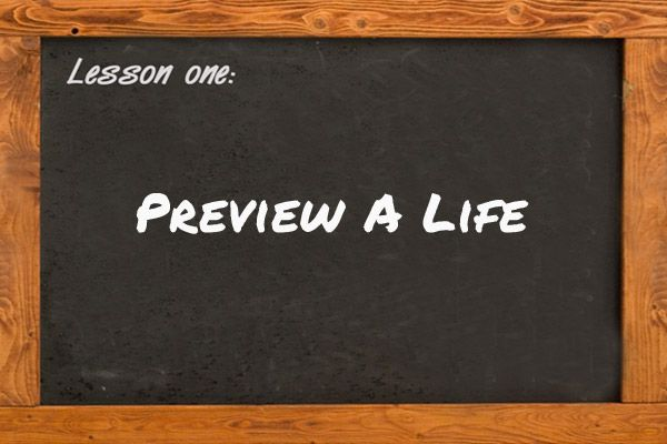 Free Lesson Idea: Preview a Life