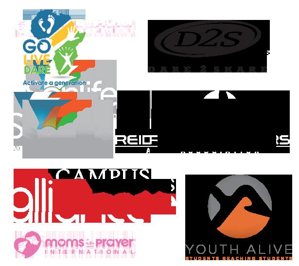 Dare 2 Share Go Live Dare Sonlife Reid Saunders Association Campus Alliance Moms in Prayer International Youth Alive