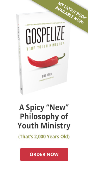 Get the book Gospelize Your Youth Ministry