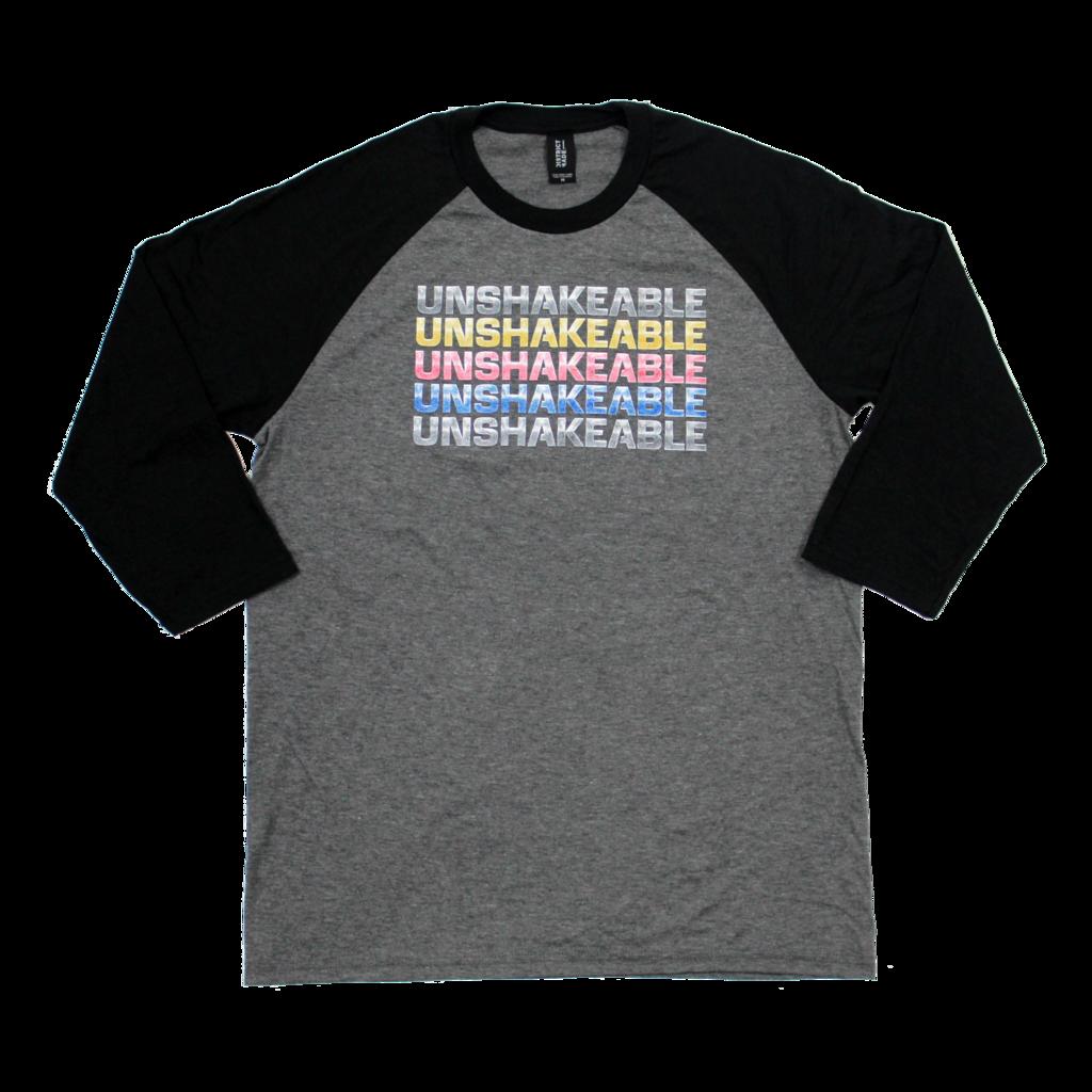 christian shirt. christian tee shirt. christian t-shirt. christian clothing. christian accessories. christian gear. unshakeable. unshakeable shirt. sharewear. image of the unshakeable christian t-shirt.