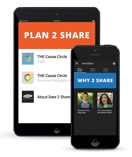 d2s app preview photo. evangelism app. free teen resources. Dare 2 Share Mobile App
