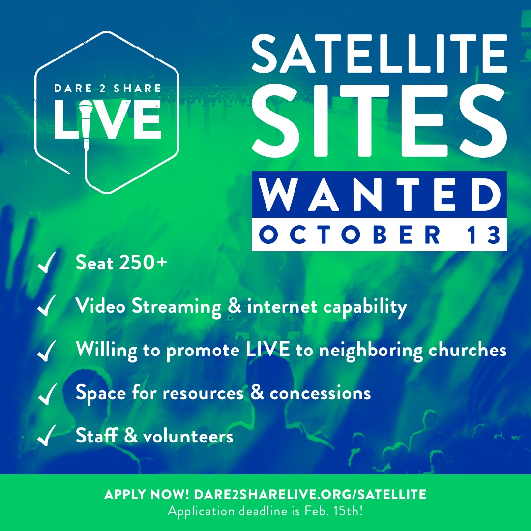 Dare 2 Share LIVE Satellite Sites Wanted